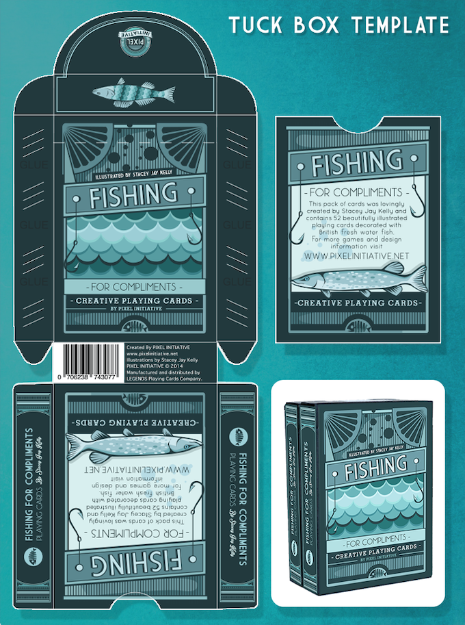 Fishing For Compliments Playing Cards By Stacey Jay Kelly