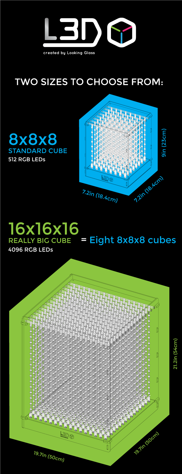 L3d Cube The 3d Led From Future By Looking Glass Kickstarter Circuit Diagram Of 8x8x8 Rgb Five Ways To Use Your