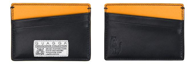 Endangered Tiger Collection - Single Cardholder (Black & Orange, 98 mm x 69 mm, CAD$39) : Holds up to 8 cards + cash
