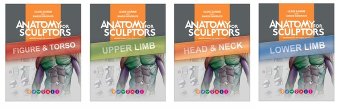 Digital Anatomy for Sculptors Subject Books