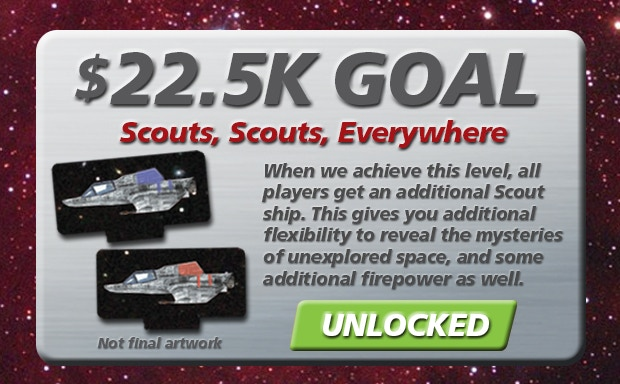 Our first unlocked Stretch Goal! Thanks to everyone! Now it's onward and upward to the next Stretch Goal.