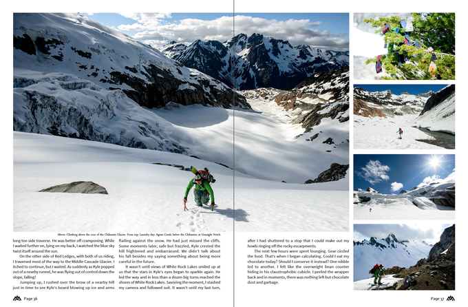 Another spread from the American Alps Traverse.