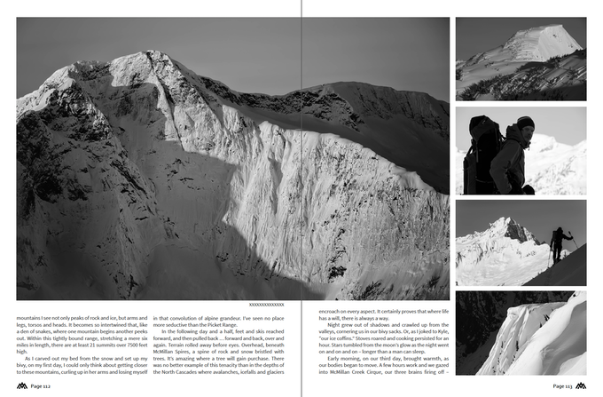 A spread from the Pickets Traverse.