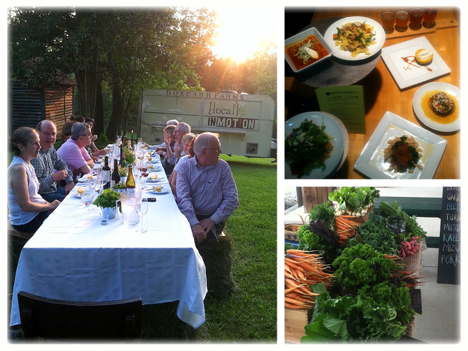 With your donation, you could opt to join us for a farm dinner by Chef Austin!