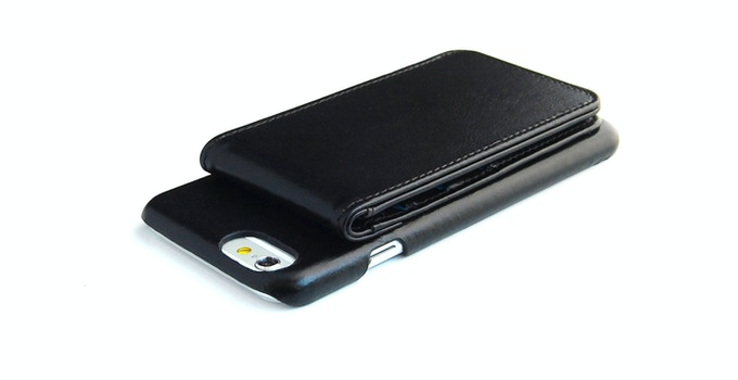 ComboCases iPhone 6 leather wallet case black color outside