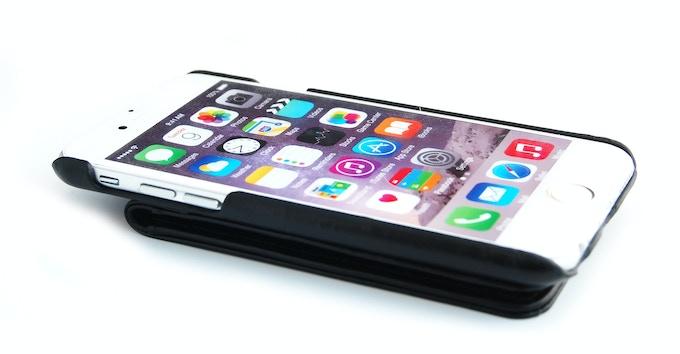 ComboCases iPhone 6 leather wallet case black color upside down