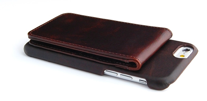 ComboCases iPhone 6 leather wallet case brown color 3