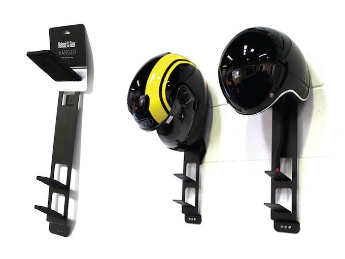 Version 1 of the Helmet and Gear Hanger
