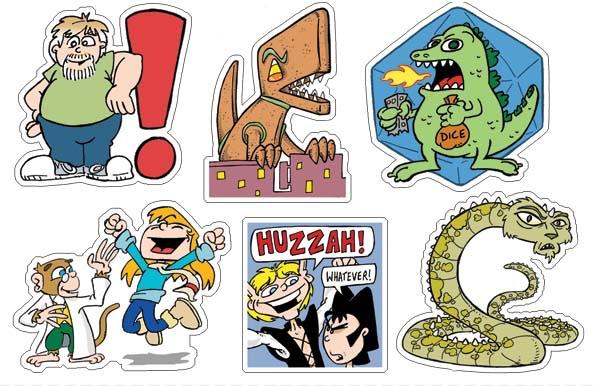 Sticker Sheet 1: Stan! Sampler