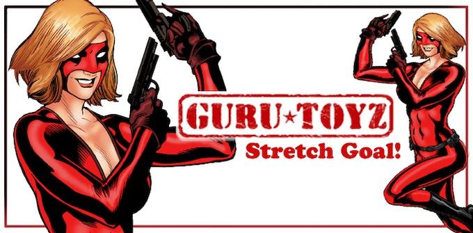 Guru Toyz Red Petra Action Figure Concept.