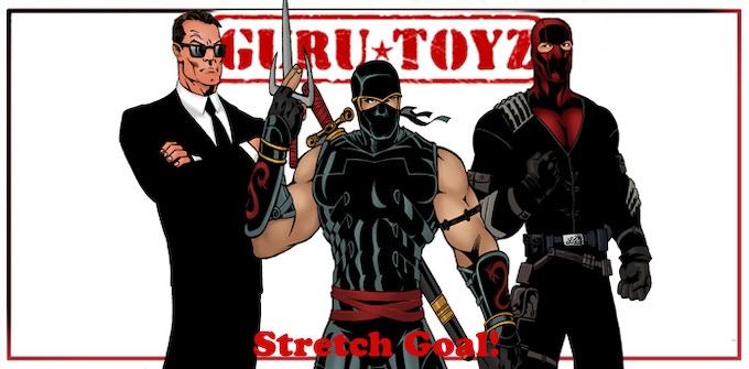 Guru Toyz Mr. Wolfgang, Ninja Assassin, Elite Hellfire Trooper Action Figures Concepts.