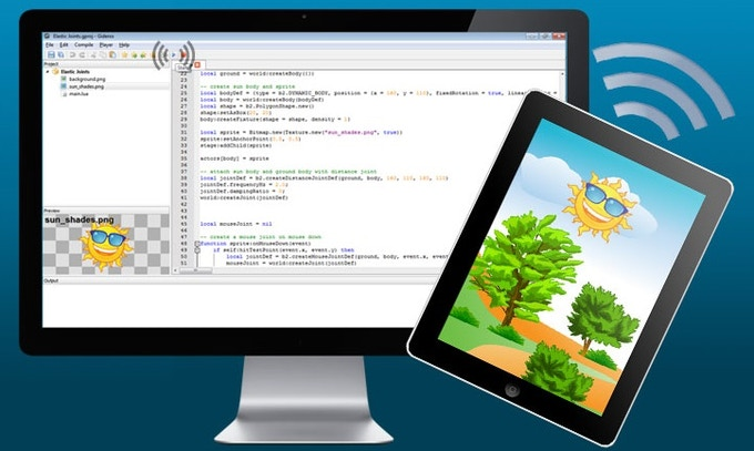 Gideros Studio allows easy creation of cross platform apps using the Lua programming language