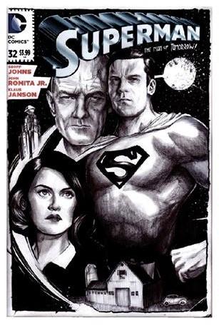 Superman Sketch Cover by Brian Lopez-Santos from the $70 reward tier.