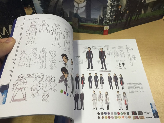 You get a lot of character prototypes in the book, it's pretty amazing to see all the notes translated too...