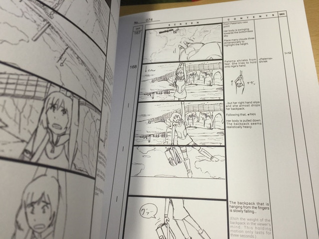 Among other things in the book are details of how animation cuts are done.