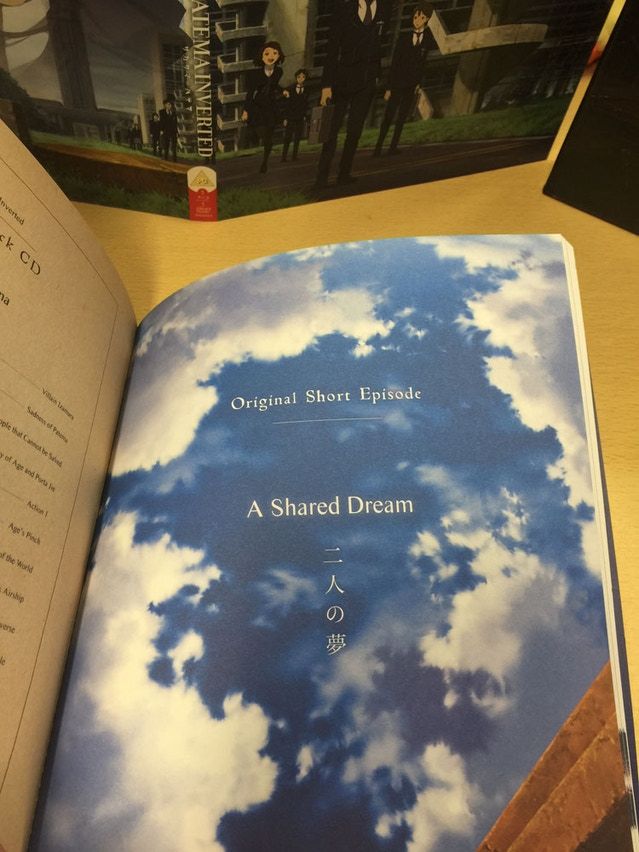 ...the short story from the homevideo in Japan, sized to fit the book :).