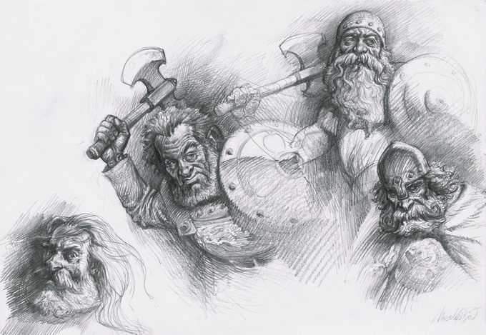 Combo Pack 3 - Original Drawing 3 - from page 30 of The Book of Giants.