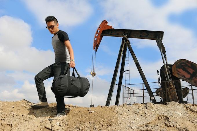 Bomber Barrel Black Duffel Weekender Bag