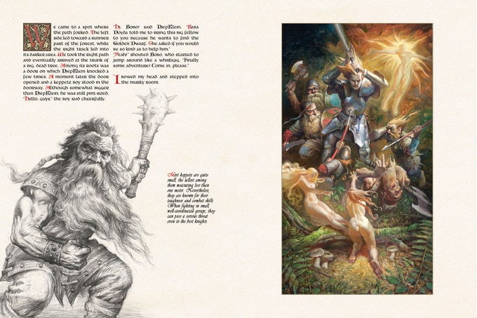 Pages 134 and 135 from The Book of Giants.