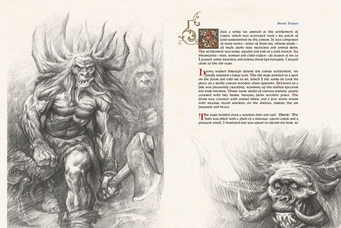 Pages 142 and 143 for The Book of Giants.