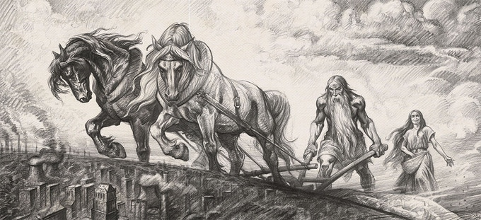 Wraparound cover for The Book of Giants Journal. Design coming soon!