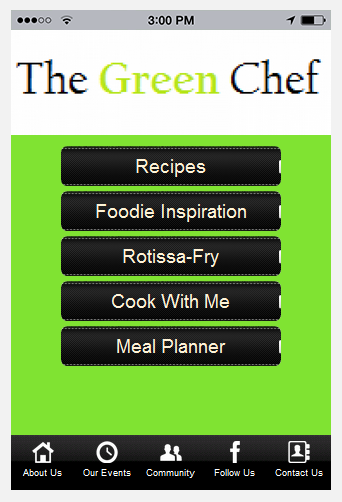 The Green Chef App