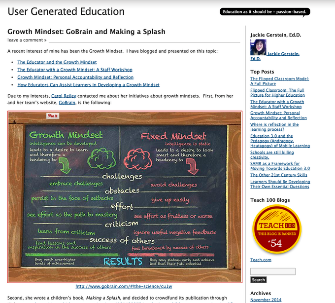 User Generated Education Blog (Teach 100 top blogs)