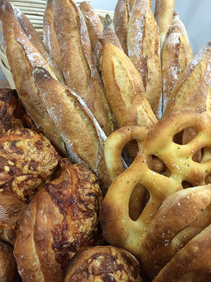 Baguettes, Gruyere Cheese Bread & Fougasse