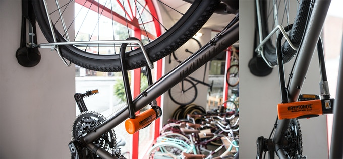 Lock your bike to your Steadyrack with any conventional bike lock.