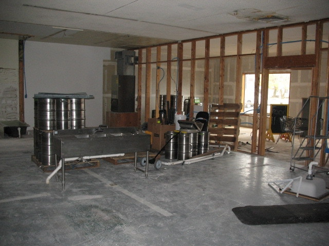 Brewing equipment in our new space!