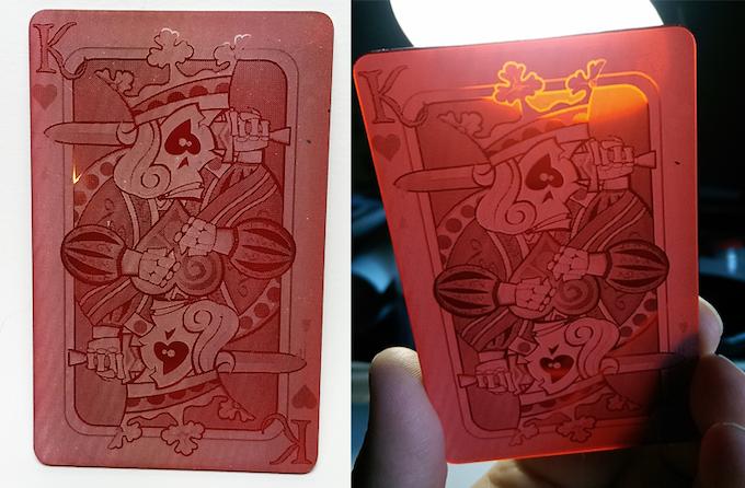 Prototype of the Acrylic card reward