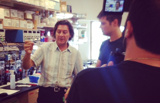 Shooting with globally-renowned gluten expert Dr. Alessio Fasano. Harvard, 2014