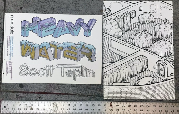 both sides of the HEAVY WATER poster