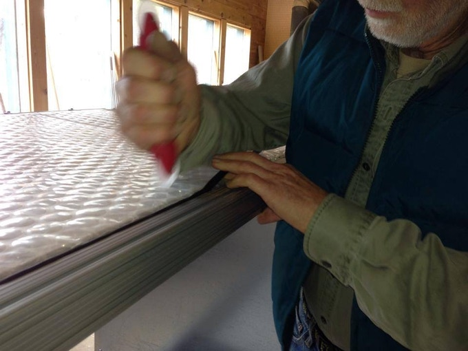SolaWrap panels can be easily replaced using standard window screen tools