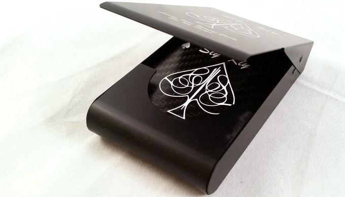 Carbon Fiber Playing Cards in Metal Case