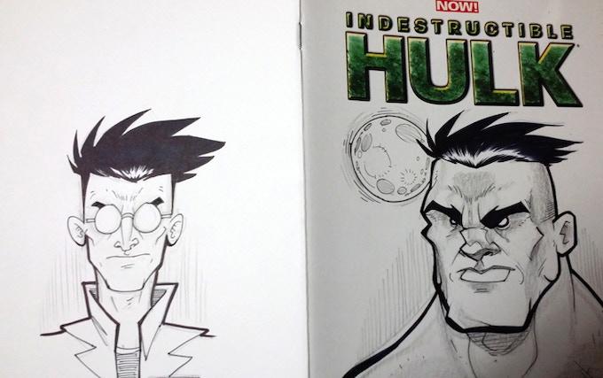 Hulk sketch cover by Richard Johnson