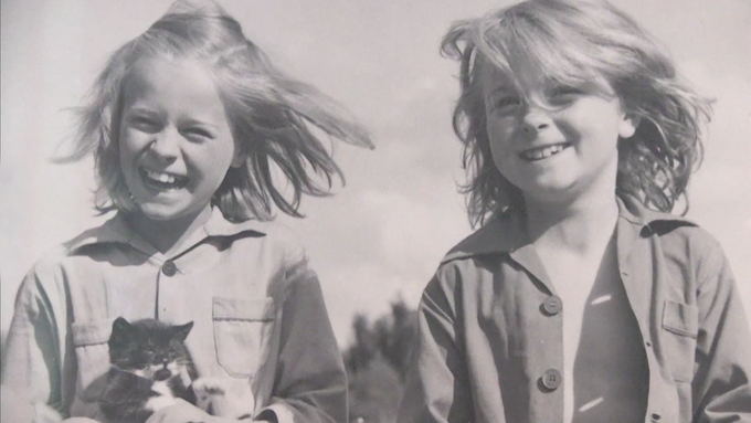 Patricia and me as kids in Denmark. That's Patricia on the right.