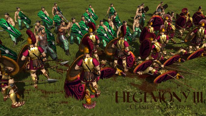 Celt Warriors battle the Greek Hoplites in incredible detail