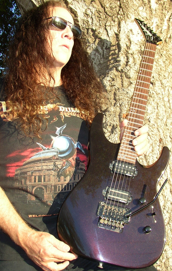 this Vicious Rumors Jackson Reverse guitar could be yours