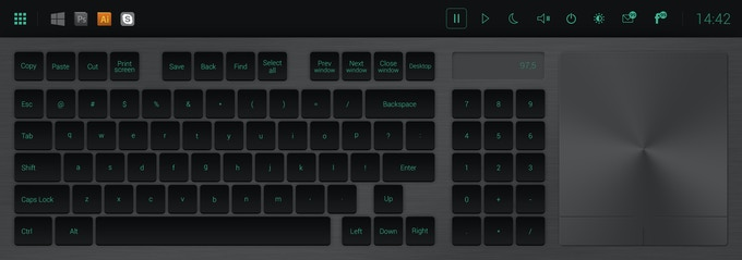 The new generation of keyboard, night mode.