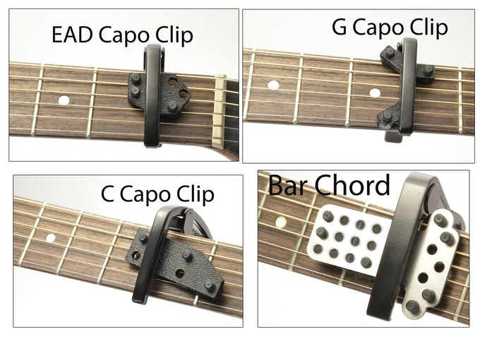 Four different capo clips, If you don't know what to get start off with the EAD or what the heck get all four!