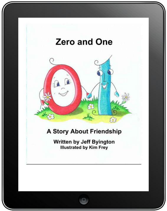 iPad Kindle version screen capture of a Zero and One page