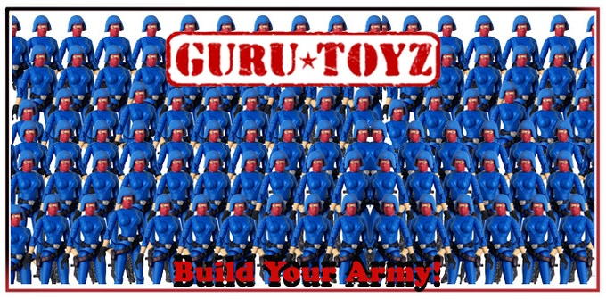 Blue Sub5 Trooper Action Figure Army Reward!
