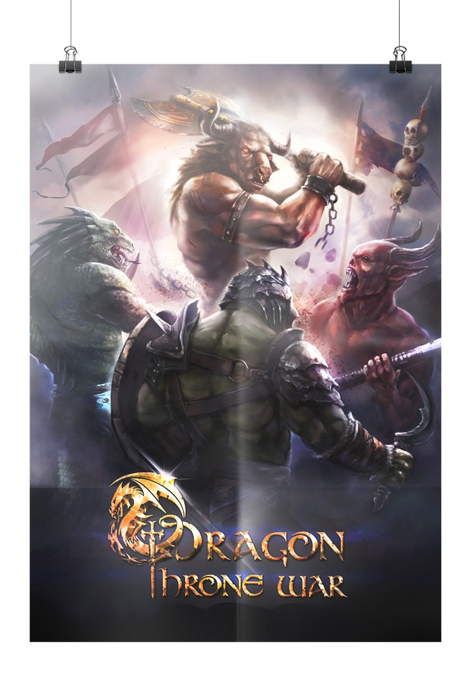 The Dragon Throne War Poster, delivered to backers from the PRINCE tier upwards