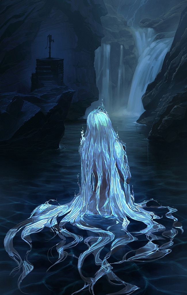 """Water Spirit"" illustrated exclusively for MOONSHOT by Haiwei Hou."