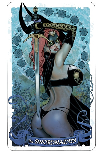 The double stretch goal has been achieved! Here is the bonus art print that will accompany the Tarot#18 Reprint!