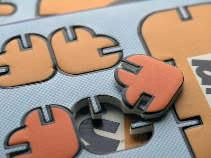We have tested the production method. This is a sample of some die cut playpress.
