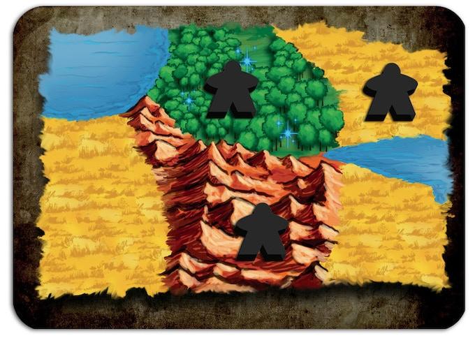 L'Orco (nero) sta raccogliendo 3 tipi di risorse.