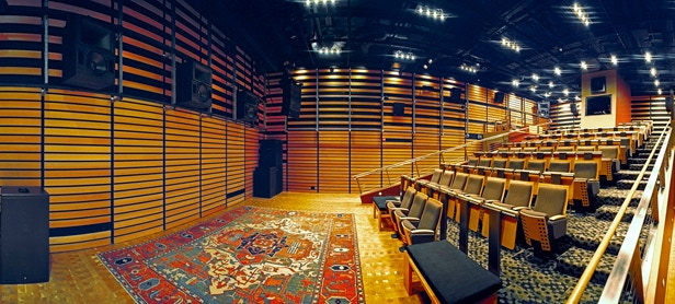 Meyer Sound's Pearson Theatre, available for private screening reward. Photo: Jesse Goff