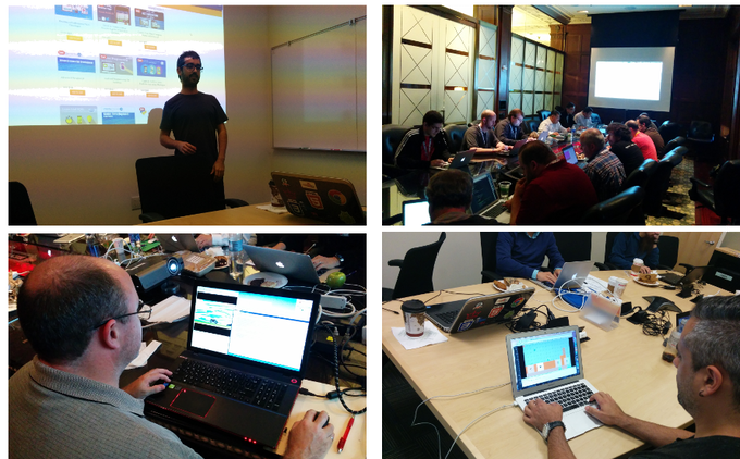 Students making quick progress in my mobile game development workshop last October in San Francisco